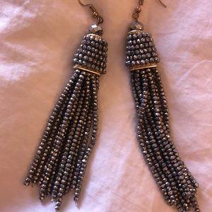 Tassel silver earrings